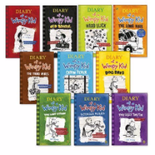 Diary of a Wimpy Kid 10 Books Box Set Collection RRP £70.00